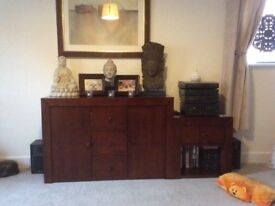 Sideboard and 2 matching side tables