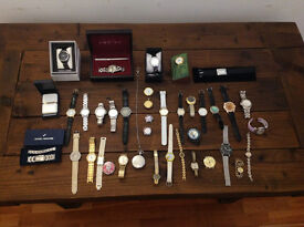 mixed lot of watches for spares and repairs
