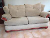 FREE Furniture Village Beige Fabric Sofa was £700 excellent condition FREE!