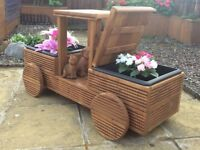 Wooden Timber Decking Garden Truck Flower Planter