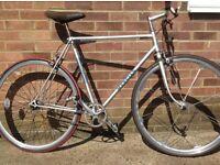 Custom Vintage Mercian Single Speed Road Bike