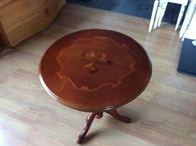 Beautiful mahogany wine table for sale