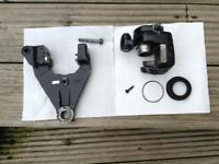 Rear brake calliper and bracket