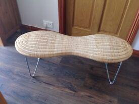 Peanut shaped wicker seat
