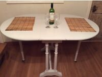 drop leaf dining table -seats 4
