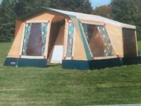 Cabanon Andorra frame tent with zip in extra bedroom, annexe and sun canopy, used for sale  Poole, Dorset