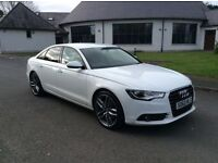 2012 Audi A6 2.0 SE 177bhp Ibis White Full Service History 58k Only £13450