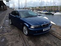 BMW 325 CI SE COUPE. FULL SPEC. 1 PREV KEEPER. 7 STAMPS.