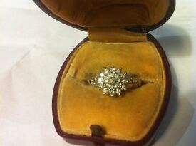 9 ct diamond cluster ring