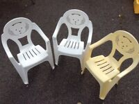 Children's stackable chairs - three - suitable for small children - bargain