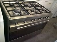 Silver Range gas cooker 90cm..cheap free delivery