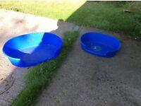 2 x Plastic Dog Baskets
