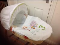 Mamas and Papas Moses Basket and Rocking Stand