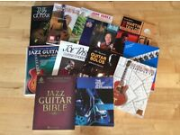 12 x Classic Jazz Guitar Books - job lot of instructional books (some with CD)