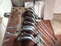 Full set left handed golf clubs