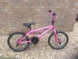 Pink Ammaco Booster Freestyle Bike
