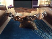 Coffee table, solid wood, completely unique
