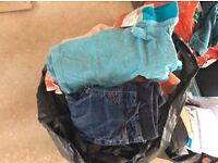 Large bag of boys clothes age 2-3