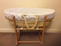 Lovely John Lewis Moses basket with mattress