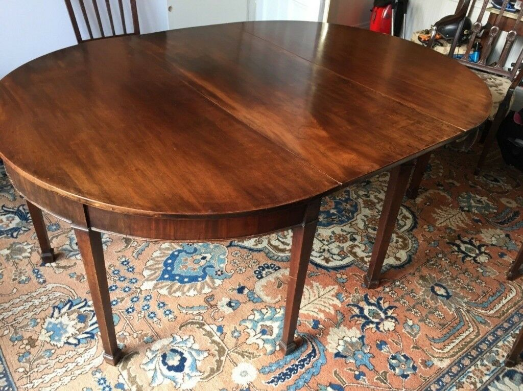 Antique Georgian Mahogany D End Extendable Dining Table Clapham Sw4 In Stockwell London Gumtree