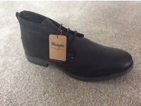 Wrangler Black Quality Leather Boots Size 9