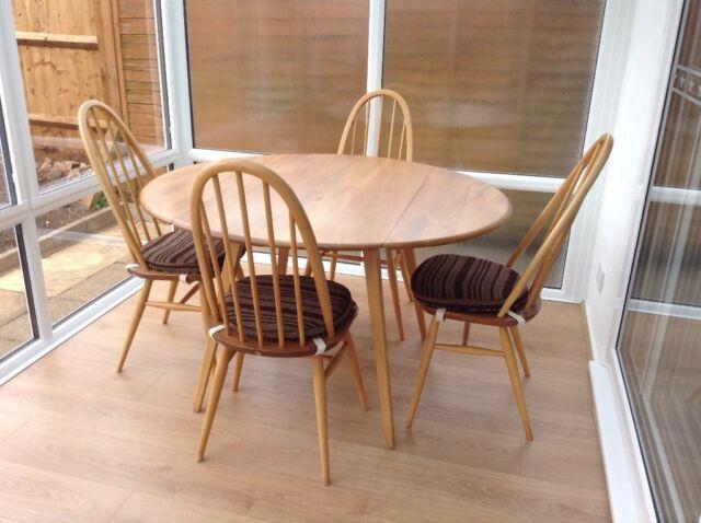 Fabulous Ercol Windsor Dining Table 4 Chairs In Thornbury Bristol Gumtree Download Free Architecture Designs Salvmadebymaigaardcom