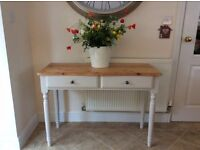 Beautiful Solid Pine Console/ Dressing Table