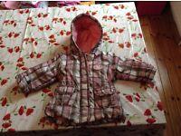 Girls rain coat size 74