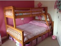 Solid pine triple sleeper bunk beds