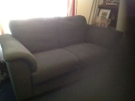 Grey two seater couch and armchair ikea