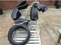 Horse tyre swing. New