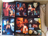 24: Complete Seasons 1-6: Kiefer Sutherland, .about 40 disks in collection BARGAIN £20