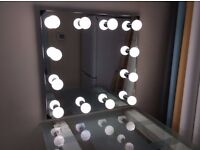 Hollywood Style Make-Up Mirror Dressing Room 700mm(W) x 700mm(H)