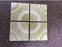 Vintage original H&R Johnson ceramic tiles. Full box of 48 tiles.