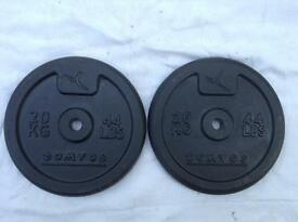 6 x 20kg Domyos Standard Cast Iron Weights