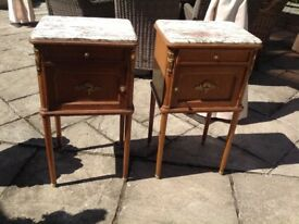 Superb pair of French bedside tables