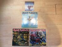 Vinyl 'RARE'! Vintage! Iron Maiden records!