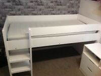 Single cabin bed and drawers