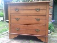 Antique satin chest of drawers