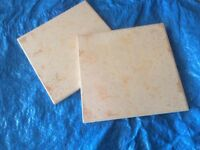Wall tiles pale terracotta colour. Box of approx 350 tiles.unused