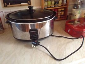 Large morphy Richards slow cooker in good condition, hardly used
