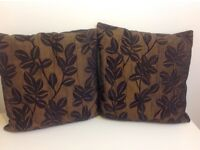 Black/Bronze Cushions x 2 and 2 spare covers