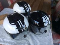 Motorcycle helmets x 3