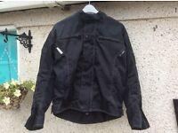 Rayven fully armoured black motorcycle jacket size M