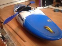 Pyranha rebel kayak, aprox 215cm long. With paddles. All in excellent condition.