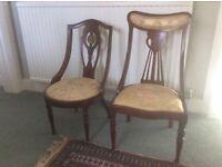 Pair of Antique Boudoir Chairs