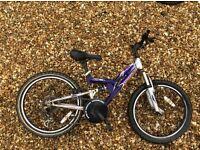 Apollo kids mountain bike purple