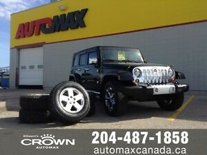 2010 Jeep Wrangler Unlimited Sahara* Leather/Low Kms* $294 B/W
