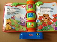 French Fisher price baby/toddler interactive book with French songs and stories - singing