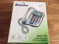 Binatone Lyris 710 corded telephone with answer machine